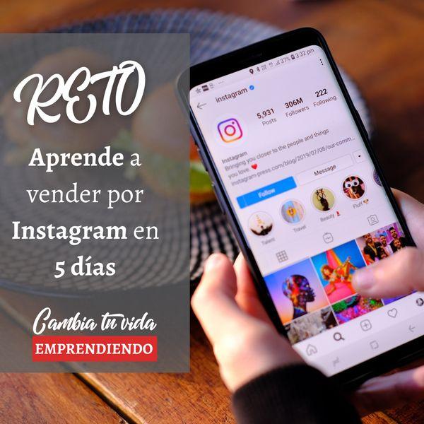 Imagem principal do produto Reto Aprende a vender por Instagram en 5 días