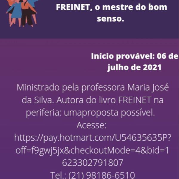 Imagem principal do produto Curso: Seguindo os passos de Freinet, o mestre do bom senso.