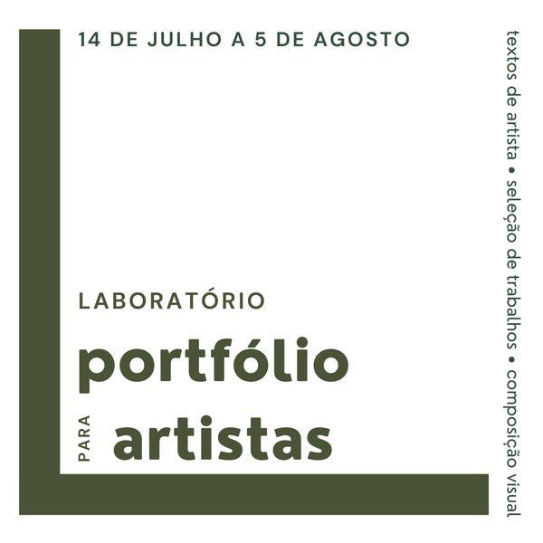 Imagem principal do produto Laboratório de texto de artista e portfólio