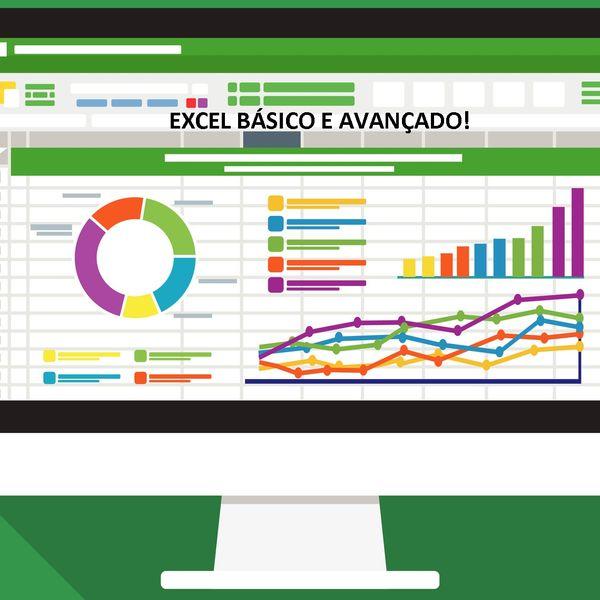 Imagem principal do produto CURSO DE EXCEL DO BÁSICO AO AVANÇADO.