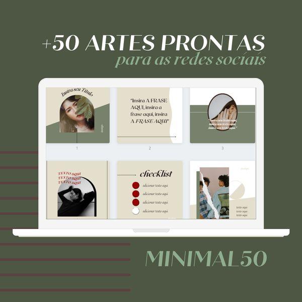 Imagem principal do produto Artes prontas para as redes sociais - MINIMAL50