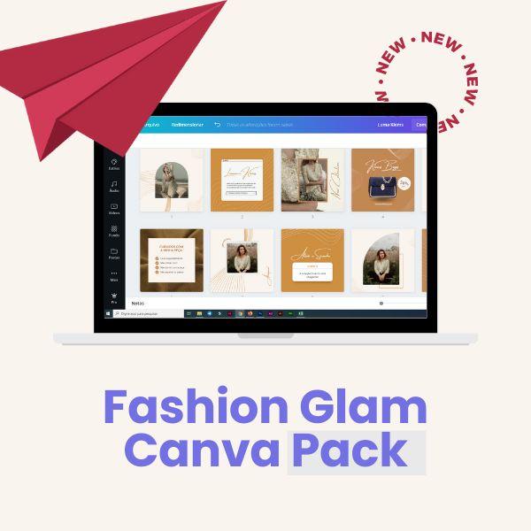 Imagem principal do produto Fashion Glam Canva Pack - Templates editáveis