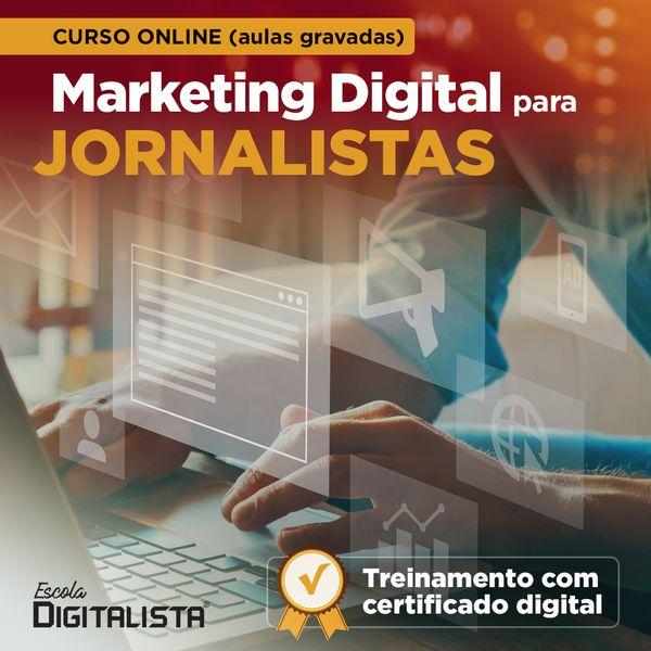 Imagem principal do produto Curso online de Marketing Digital para jornalistas