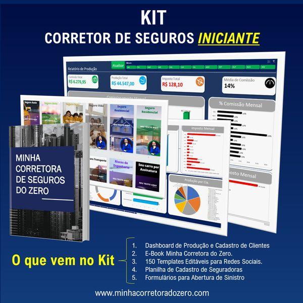 Imagem principal do produto KIT Corretor de Seguros Iniciante