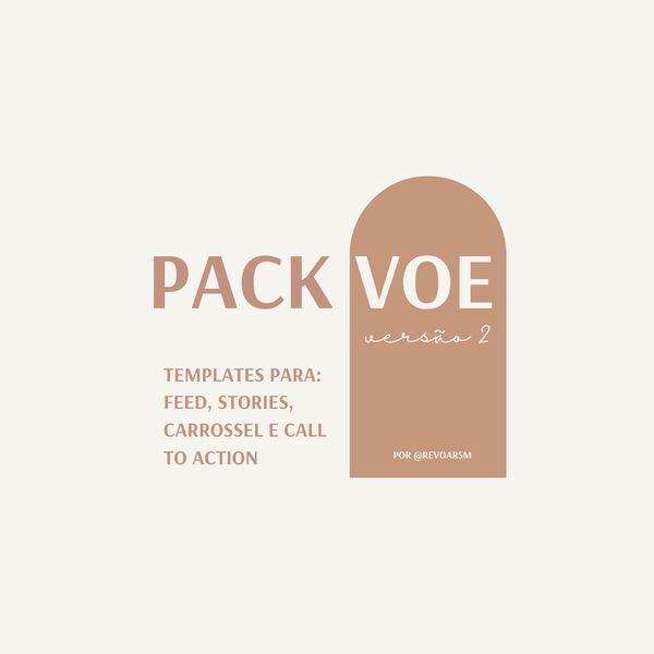 Imagem principal do produto Templates personalizados para Instagram | Pack Voe 2.0