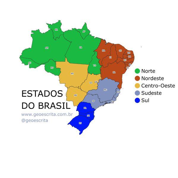 Imagem principal do produto Estados do Brasil - Mapa Editável para PowerPoint