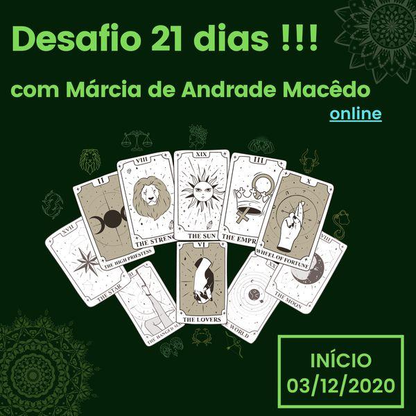 Imagem principal do produto Desafio de 21 dias com Márcia de Andrade Macêdo
