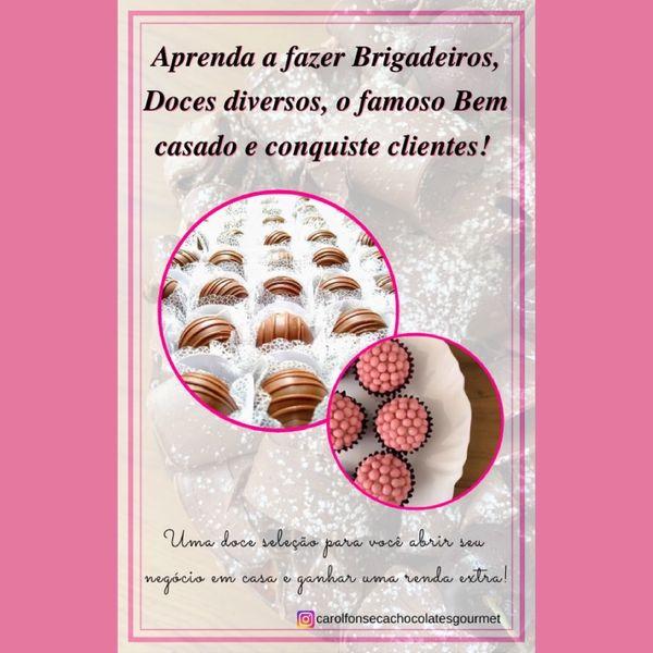 Imagem principal do produto Aprenda a fazer Brigadeiros, Doces diversos, o famoso Bem casado e conquiste clientes!