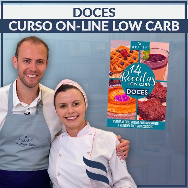Imagem principal do produto Curso Online de Doces Low Carb + E-book com 10 receitas extras