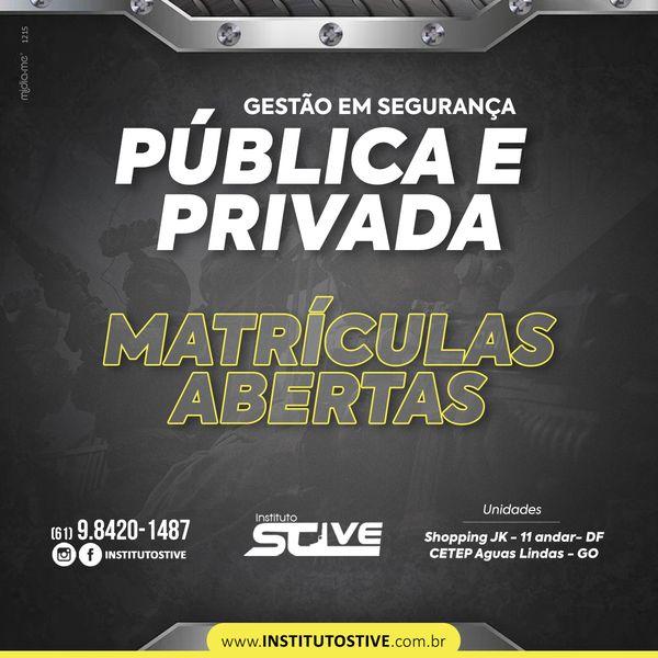 Imagem principal do produto CURSO DE GESTÃO EM SEGURANÇA PÚBLICA