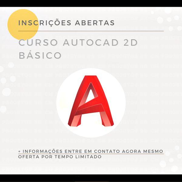 Imagem principal do produto CURSO DE AUTOCAD 2D BÁSICO PARA ARQUITETURA E ENGENHARIA - AO VIVO - NOTURNO