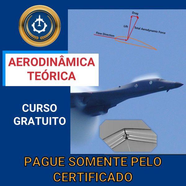 Imagem principal do produto Curso Gratuito de Aerodinâmica Teórica