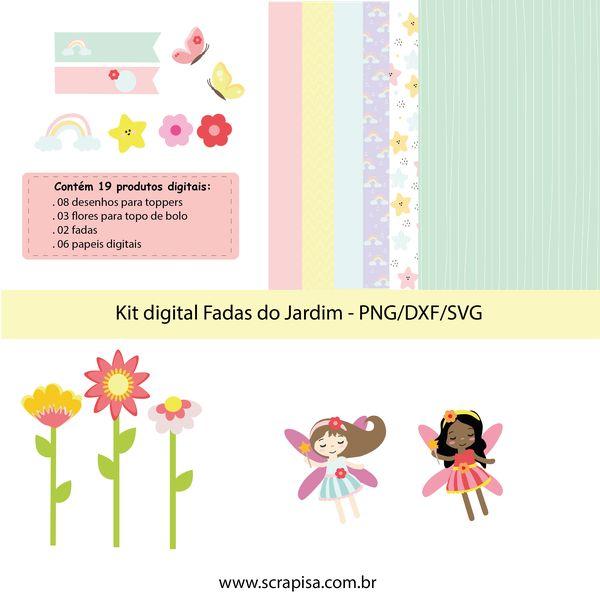 Imagem principal do produto Kit digital Fadas do Jardim