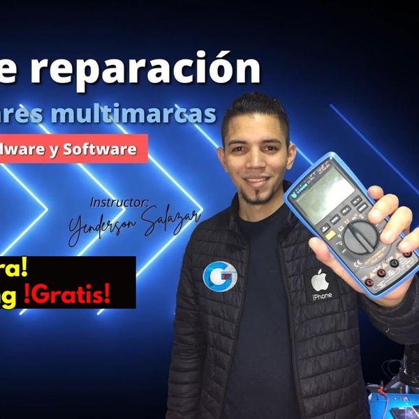 Imagem principal do produto Curso de Reparación de Celulares Hardware y Software + Reballing