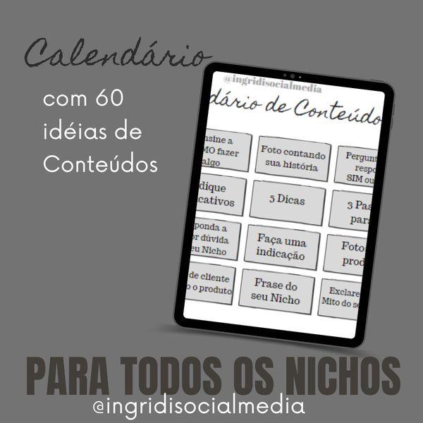 Imagem principal do produto Calendário de Conteúdos para Redes Sociais