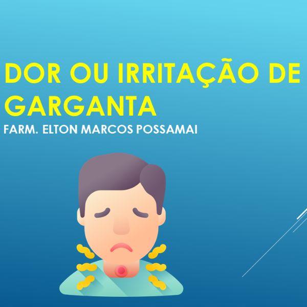 Imagem principal do produto Atendente de Farmácia, Dor e Irritação de Garganta - Você preparado para um atendimento diferenciado!