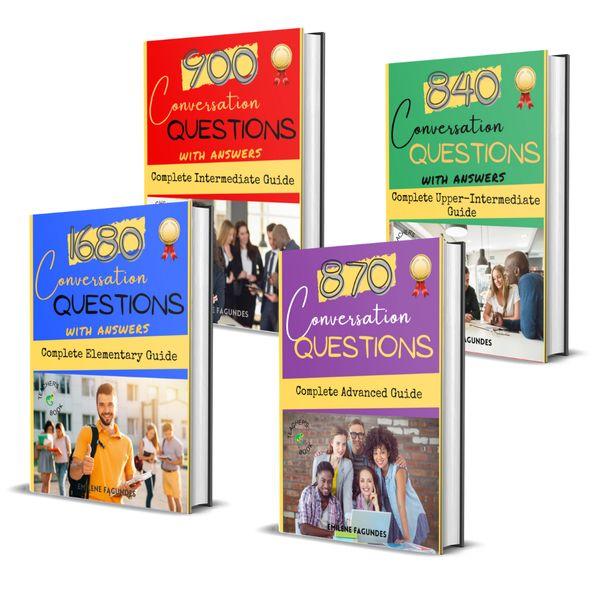 Imagem principal do produto Coleção English Conversation - 4290 Conversation Questions - Basic to Advanced