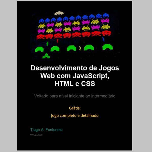 Imagem principal do produto Ebook Desenvolvimento de Jogos Web com JavaScript, HTML e CSS