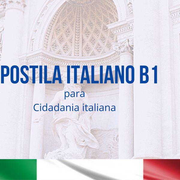 Imagem principal do produto APOSTILA ITALIANO B1 Cidadania italiana Mod. CILS - CELI