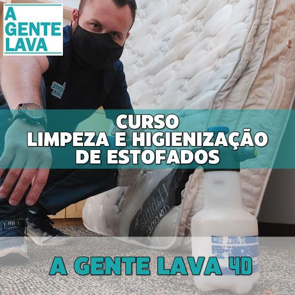 Imagem principal do produto Curso de limpeza e higienização de estofados - A Gente Lava 4D