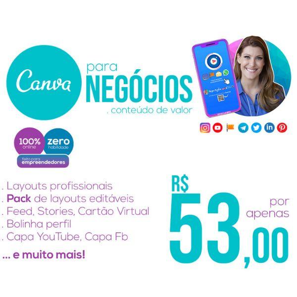 Imagem principal do produto CANVA para Negócios > Pack de layouts prontos