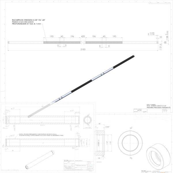 Imagem principal do produto Curso Pratico fabricando sua barra olímpica profissional