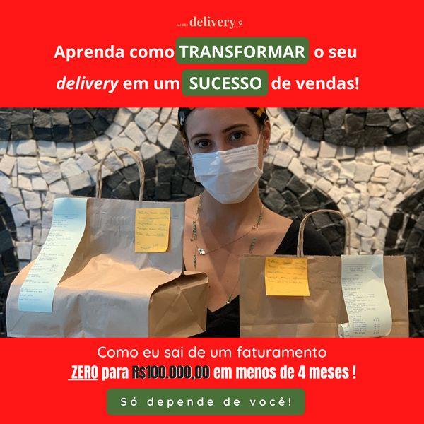 Imagem principal do produto Aprenda como TRANSFORMAR o seu delivery em um SUCESSO de vendas mesmo que você esteja apenas começando!!