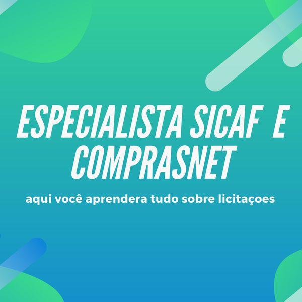 Imagem principal do produto Especialista sicaf comprasnet 2.0
