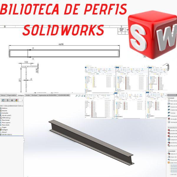 Imagem principal do produto Biblioteca de Perfis Estruturais para SolidWorks