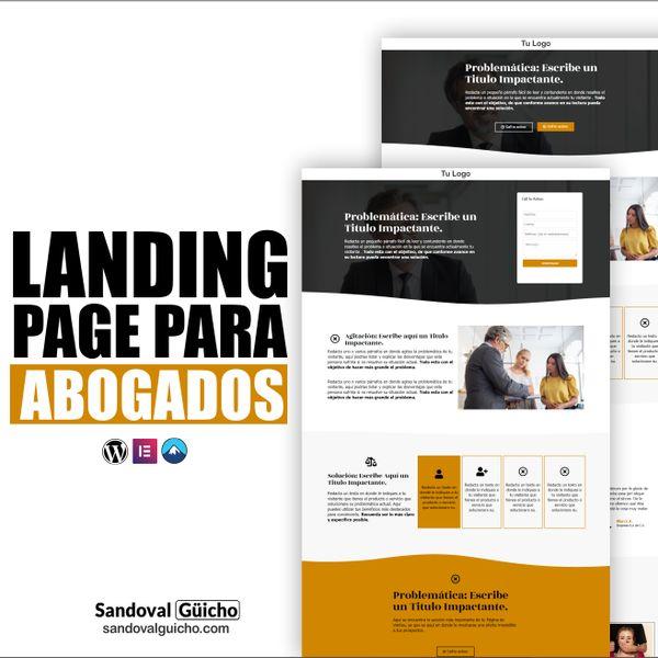Imagem principal do produto 19 -. 👉 Combo: Landing Page y Página para Abogados - Compatibles para WordPress y Elementor.