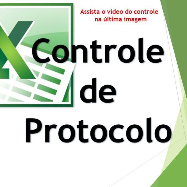 Imagem principal do produto Controle De Protocolo - Excel Planilhas Avançadas