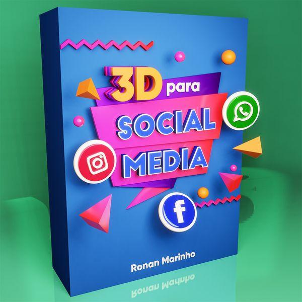 Imagem principal do produto 3D para Social Media