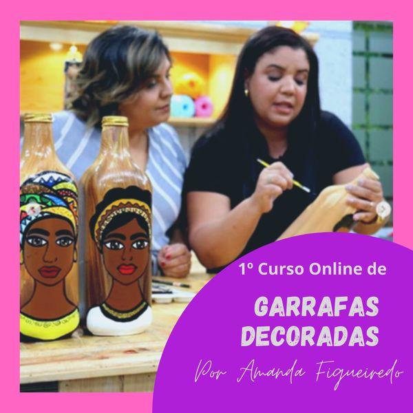 Imagem principal do produto Curso Garrafas Decoradas