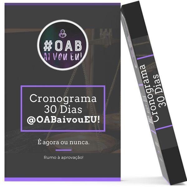 Imagem principal do produto CRONOGRAMA 30 DIAS OAB @OABaivouEU