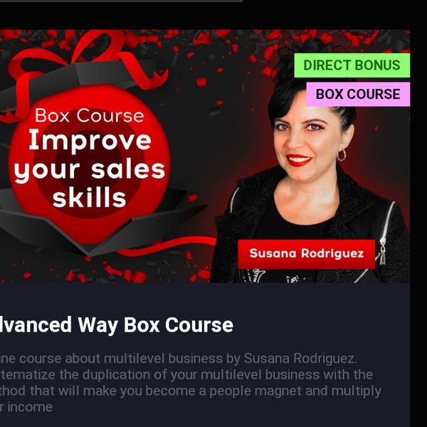 Imagem principal do produto Box Course. Improve your sales skills