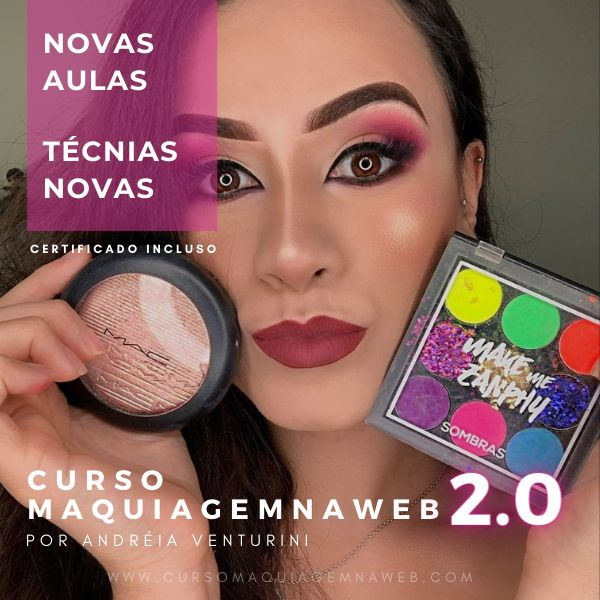 Imagem principal do produto Curso Maquiagem na Web 2.0 - Andréia Venturini