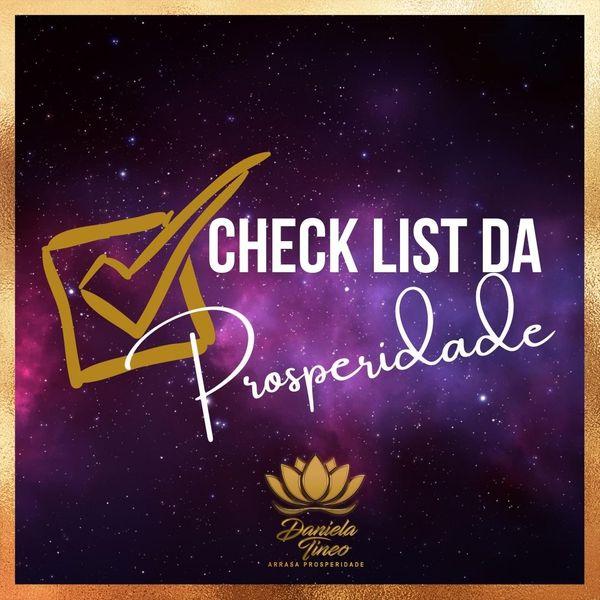 Imagem principal do produto CHECK LIST DA PROSPERIDADE . Aprenda a identificar o que te impede de ter uma vida próspera
