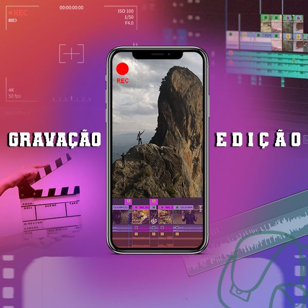 Imagem principal do produto Curso de Gravação e Edição de Vídeo 100% no Celular