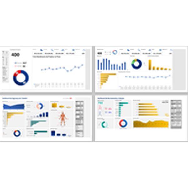 Imagem principal do produto Dashboard para Acompanhamento e Controle de Projetos, Recrutamento & Seleção e Segurança do Trabalho em Excel