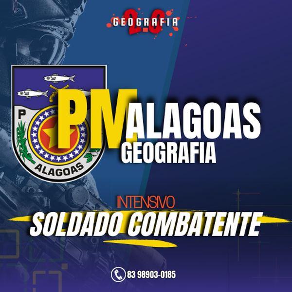 Imagem principal do produto PM-AL 2021 I Geografia geral, do Brasil e de Alagoas - SOLDADO COMBATENTE