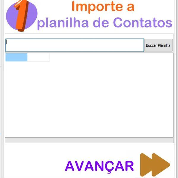 Imagem principal do produto Disparador de WhatsApp para sua lista de contatos de uma só vez! Ilimitado e sem mensalidade!