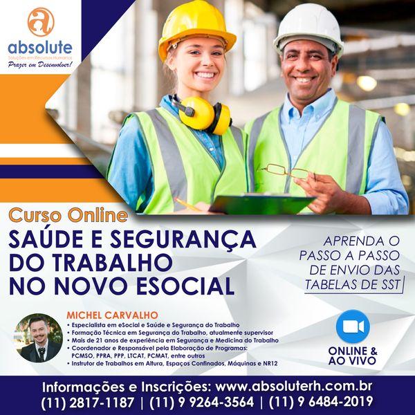 Imagem principal do produto Curso Online e Ao Vivo: Saúde e Segurança do Trabalho no Novo eSocial
