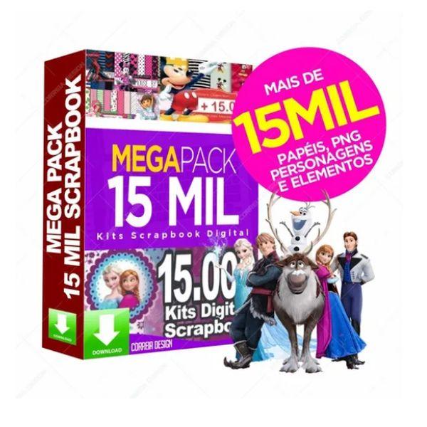Imagem principal do produto Pacote De 15 Mil Kits Scrapbook Silhouette Arquivos Digital