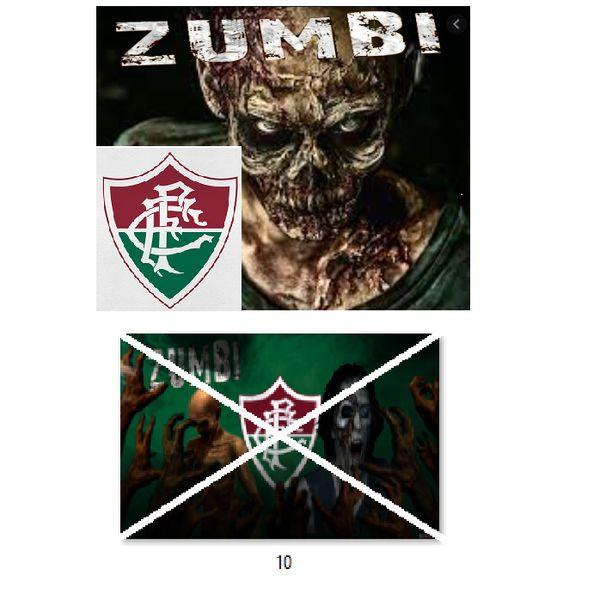 Imagem principal do produto Fluminense zumbi foto para estampar camisetas 10