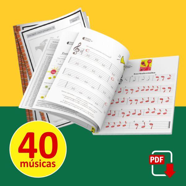 Imagem principal do produto Livro Infantil com Partituras Musicais - Canções Infantis e Populares Portuguesas para o Brasil