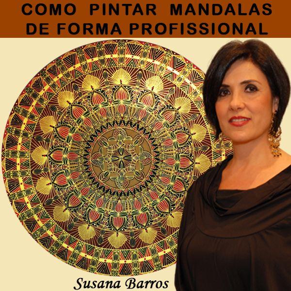 Imagem principal do produto CURSO DE COMO PINTAR  MANDALAS  FORMA PROFISSIONAL