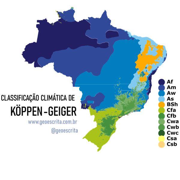 Imagem principal do produto CLIMA POR KÖPPEN-GEIGER - Mapa Editável para PowerPoint