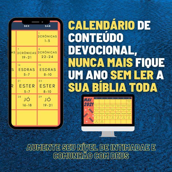 Imagem principal do produto Calendário de leitura bíblica devocional