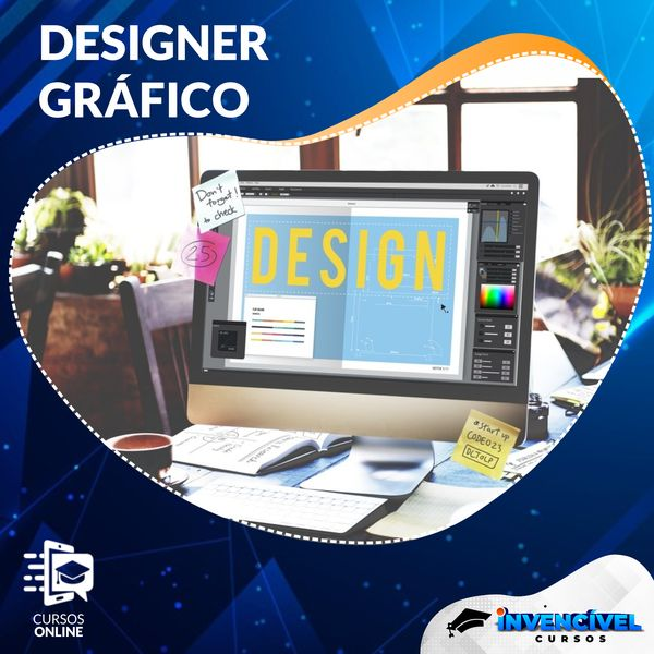 Imagem principal do produto DESIGNER GRÁFICO + 8 Cursos Brindes