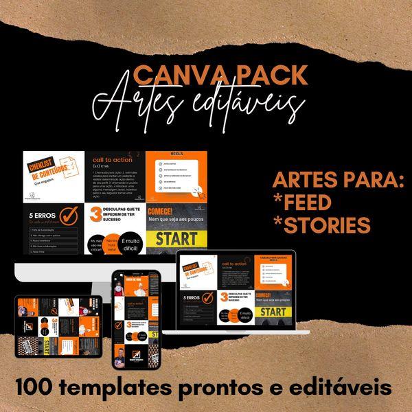 Imagem principal do produto CANVA PACK ARTES EDITAVEIS